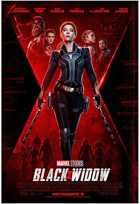 """Amazon.com: Black Widow Movie Poster - Advance One Sheet (Style D) 24""""x36""""  This is a Certified PosterOffice Print with Holographic Sequential  Numbering for Authenticity.: Posters & Prints"""