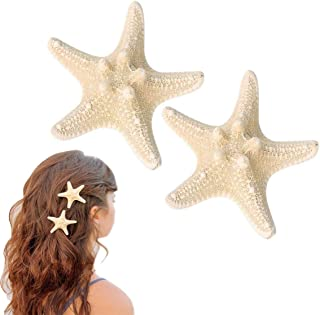 OBTANIM Starfish Hair Clip Resin Sea Star Hair Pins Pretty Beach Hairpin Hair Barrettes Accessories for Women and Girls, 2 Pcs