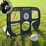 WISHOME Pop-up Folding 2 in 1 Kids Soccer Goal with Size 4 Soccer