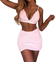 Women Halter Backless Bralette Crop Top Bodycon Mini Skirt Bandage Mini Dress Set Clubwear