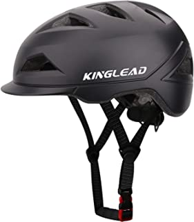 KINGLED Casco Bici,Certificato CE,Casco da Ciclismo con Luce