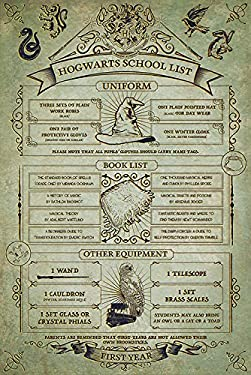 Pyramid International PP34102 Hogwarts School List Harry Potter Maxi Poster, Plastic/Glass, Multi-Colour, 61 x 91.5 x 1.3 cm