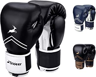 Trideer Pro Grade Boxing Gloves for Men & Women, Kickboxing Bagwork Gel Sparring..