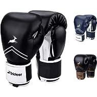 Trideer Pro Grade Boxing Gloves, Kickboxing Bagwork Gel Sparring Training Gloves, Muay Thai Style...
