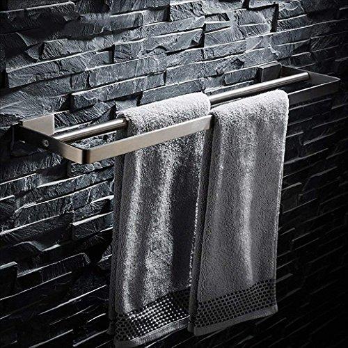 29,5 x 6,5 x 7 cm Silber chg T/ür-Handtuchstange aus rostfeiem Edelstahl