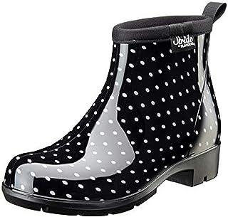 Sloggers 5413BP09 Women's Half Woman's Waterproof Boot, 9, BLK/WHT Polka DOT