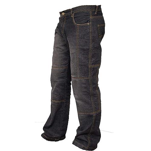 newfacelook Hommes Motorcycle Pantalon Motards Jeans Renforc/ée Aramide Protection