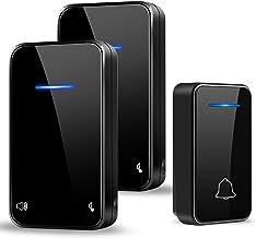 PYBBO Heeft geen batterij nodig, draadloos, zelfbediend, led-display IP55, 48 melodieën en 7 volume, 200 m bereik, 1 zende...