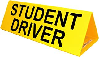 Student Driver Car Topper Sign, 30x10 in. Corrugated Plastic for Transportation, Made in USA by ComplianceSigns