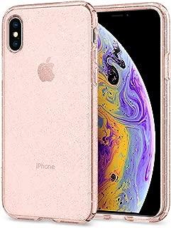 Spigen Liquid Crystal Designed for Apple iPhone Xs Case (2018) / Designed for Apple iPhone X Case (2017) - Glitter Rose Quartz