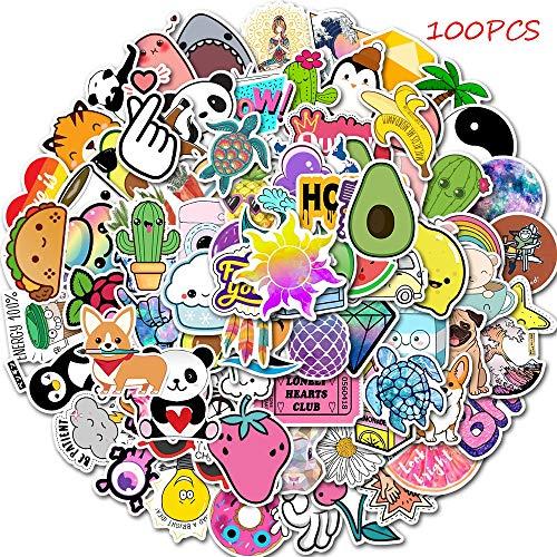 TTBH 100 Uds Dibujos Animados Simple Chica Avai Pegatina Juguete Impermeable Pegatina...