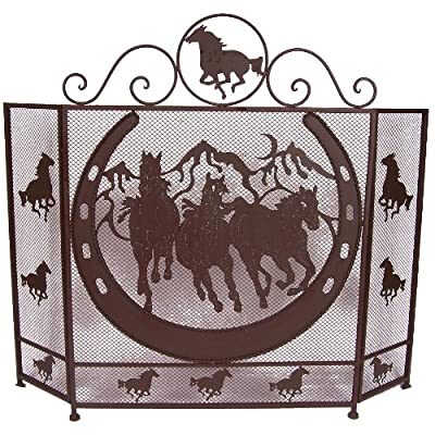 LL Home Metal Horse Fire Screen from Marco International, Inc.