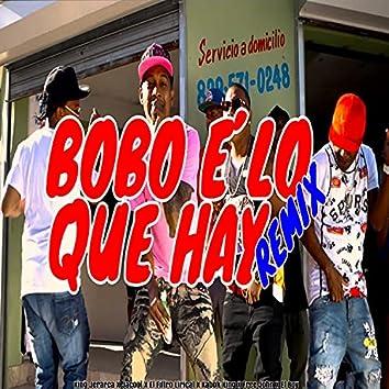 Bobo E' Lo Que Hay (Remix)