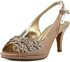 Karen Scott Womens Bronaa Peep Toe Slingback Classic Pumps, Nude, Size 8.5