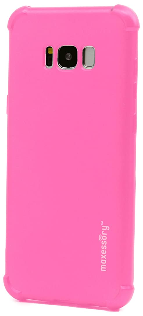 Galaxy S8 Plus/Galaxy S8+ Case, Maxessory Hot Pink Agility Thin Rigid Tough Protective Armor Cover W/TPU and Scratch-Resistant Impact-Guard Reinforced Bumper