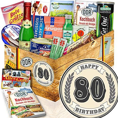 80 er Geburtstag Geschenke + Geschenke zum 80. + DDR Geschenkkorb