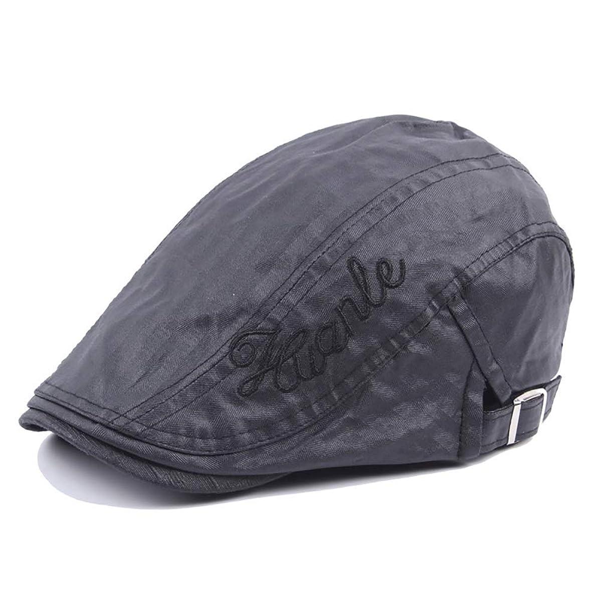 スプレーポジティブ力LULIJP キャスケット 鳥打帽 メンズ サイズ調整可 旅行 快適 ポリエステル ハンチング シンプル 55-61cm ハット