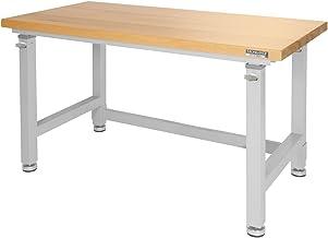Seville Classics UltraHD Height Adjustable 4-Foot Heavy-Duty Wood Top Workbench Table,..