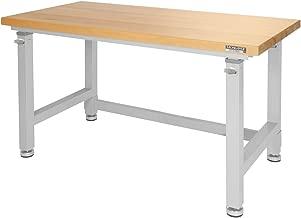 UltraHD Adjustable Height Heavy-Duty Wood Top Workbench, 48