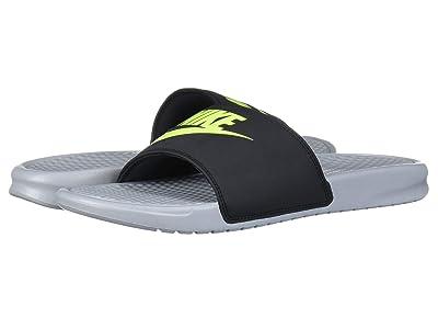 Nike Benassi JDI Slide (Wolf Grey/Volt/Black) Men