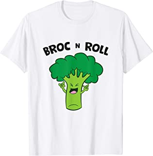 Sponsored Ad - Broc N Roll Vegetable Broccoli Pun Rock N' Roll T-Shirt