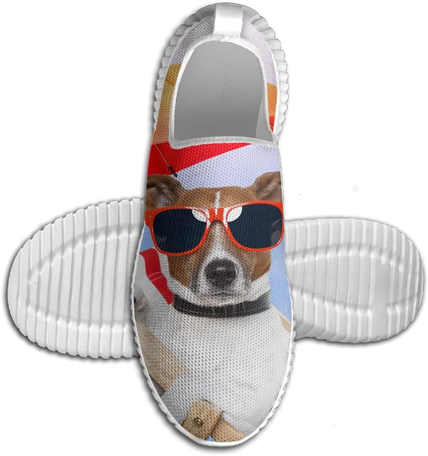 Unisex Adult Slip-On Mesh EVA Loafers Breathable 3D Printed Fly Knit Sneaker Soft Slippers shoes