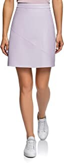 Ultra Women's Faux Leather Trapeze Skirt