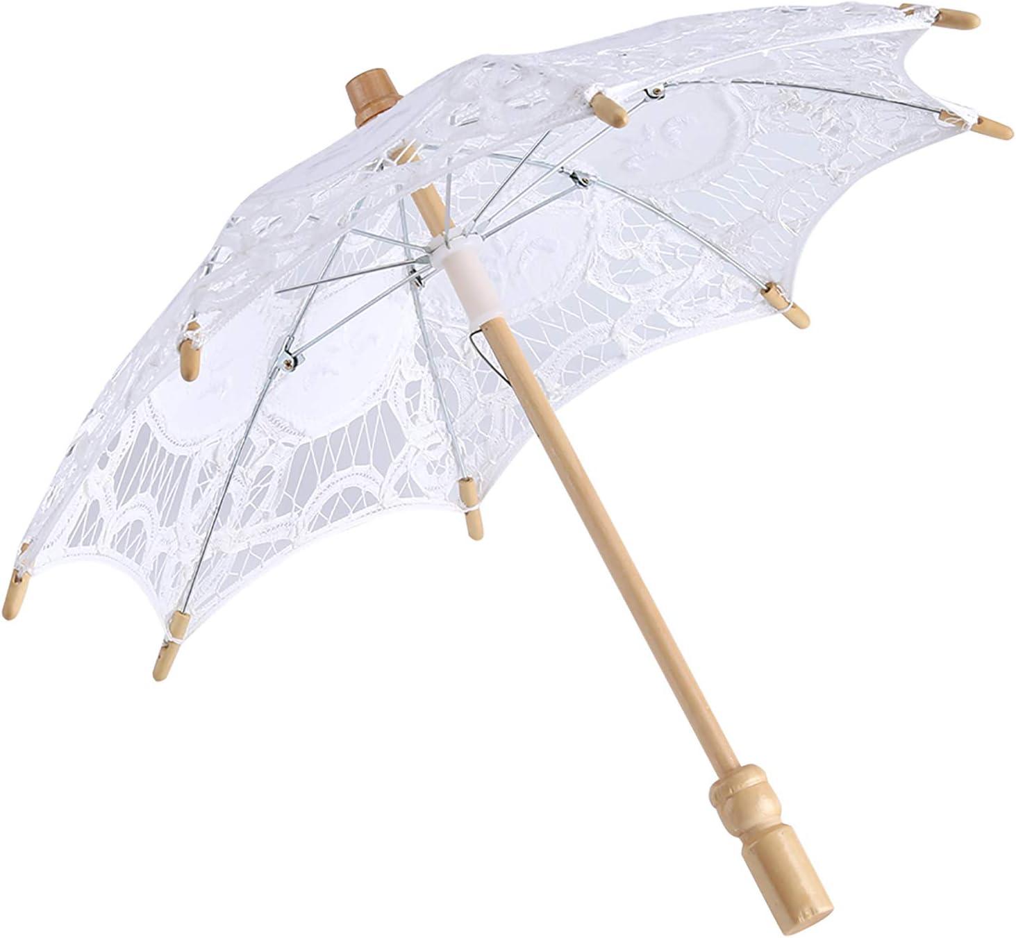 EVTSCAN Vintage Lace Parasol Wedding Max 53% OFF Lady Umbrella Nippon regular agency