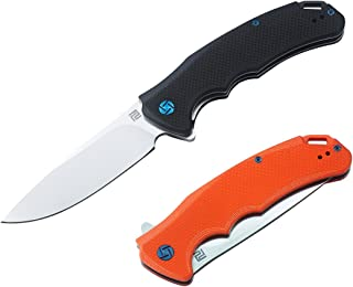 ArtisanCutlery Folding Knife D2 Blade G10 Handle Camping Tactical Pocket Knife (Orange)