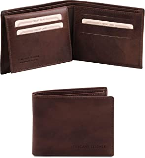 Tuscany Leather Esclusivo portafoglio uomo in pelle 3 ante Testa di Moro
