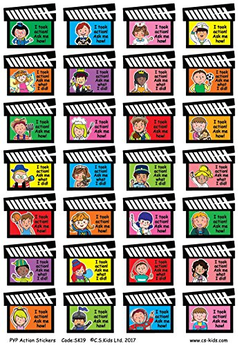 C.S. Kids PYP Action Stickers (Pak van 168)