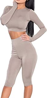 Women Sexy Solid Short Sets Clubwear 2 Piece Outfits Crop Tank Top+Shorts Pants Tracksuit Sportswear Set
