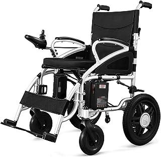 AOLI Portátil silla de ruedas plegable para trabajo pesado movilidad eléctrica, silla ligera de alimentación, 360 ° Palanca de mando motorizado Sillas de ruedas, motos, para los inválidos de edad ava