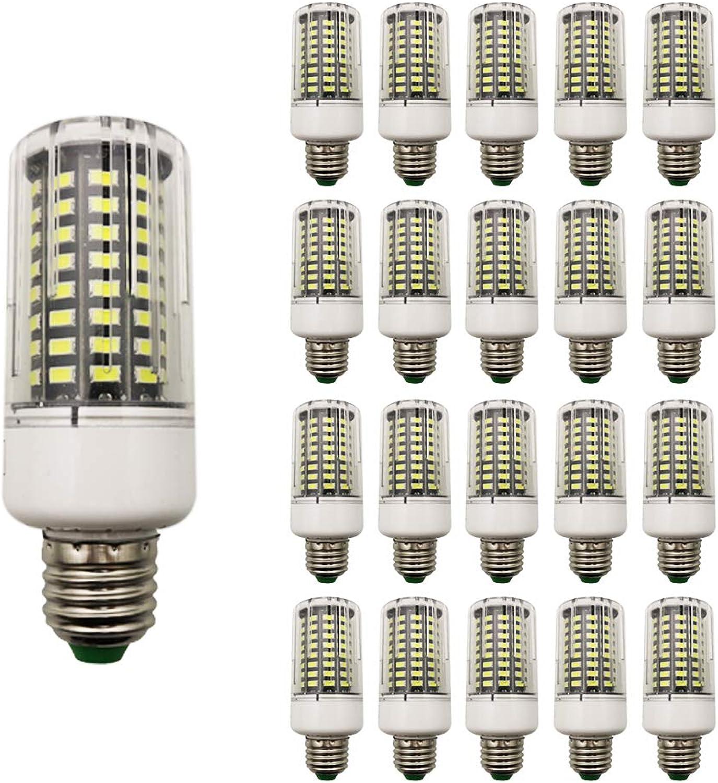 20 Stück 9W E27 LED Maiskolben Lampen Kaltwei 6000K 100× 5736 SMD 900 Lumen Super Bright Schraube LED Retrofit Leuchtmittel für Lager Garten Pathway Straenbeleuchtung