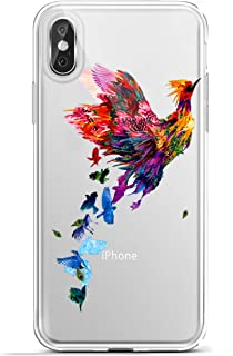 Karomenic Silikon Hülle kompatibel mit iPhone XR Kreative Cartoon Transparent Handyhülle Durchsichtig Schutzhülle Crystal Clear Weiche Soft TPU Tasche Bumper Case Etui,Vogel
