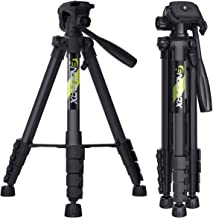 "Endurax 66"" Video Camera Tripod for Canon Nikon Lightweight Aluminum Travel DSLR Camera Stand with Universal Phone Mount a..."