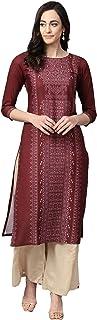 Vaamsi Women's VPK1651 Polyester Crepe A-Line Kurta