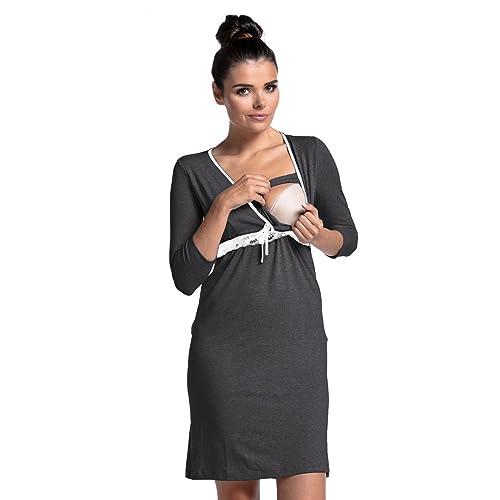 donna 255c Allattamento camicia da notte pr/émaman gravidanza Zeta Ville