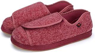 Chaussures pour œdèmes diabétiques larges,Chaussures pieds larges et amples, plus chaussures ajustables en velours pour le...