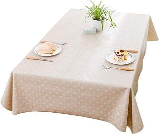 H&K テーブルクロス テーブルマット 食卓カバー 厚み0.3mm PVC製 撥水加工 汚れ防止 家庭用 業務用 サイズ別(約 120cmx120cm、137cmx185cm、137cmx225cm)