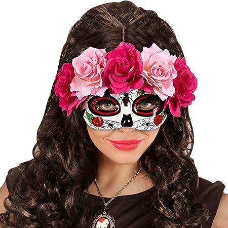 La Catrina Maske Halloween Mexikanische Totenmaske Tag der Toten Gesichtsmaske