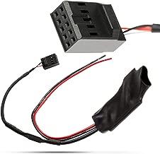 Flychengi R/écepteur radio st/ér/éo Bluetooth sans fil AUX C/âble USB prise jack 3,5 mm Adaptateur chargeur de voiture compatible avec autoradio allume-cigare pour E46 E90 E91 E92 E93