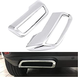 YUFENGJIAO Fit for Peugeot 3008 5008 Allure 2017-2019 Exhaust Pipe Tail Cover ABS Rear Exhaust Muffler End Pipe Cover Deco...