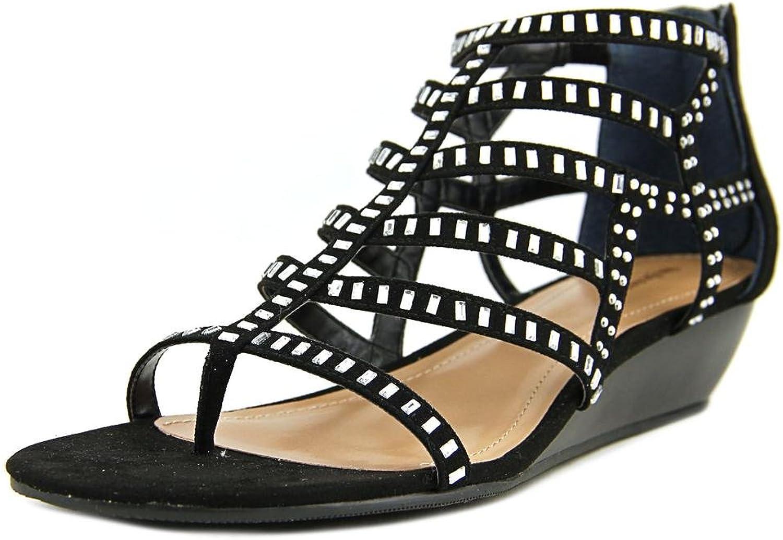 Style & Co. kvinnor Bradey Split Toe Toe Toe Casual Ankle Strap Sandals, svart, Storlek 9.0  40% rabatt