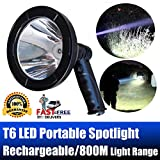 dicn Handheld Searchlight Rechargeable LED Spotlight Portable 5 Inch 2500 Lumens Super Bright