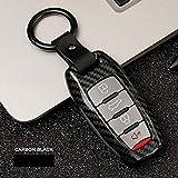 XTQDM Autoschlüsselschale,Für Auto Zinklegierung Schlüssel Auto Schlüsseletui Für Haval H1 H2 H5 H6 Coupé H7 H8 H9 C50 Schutzzubehör Schlüsselbundhalter SchlüsselringRuß
