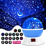 MOKOQI Star Projector Night Lights for Kids with Timer, Gifts for 1-14 Year Old Girl and Boy, Room Lights for Kids Glow in The Dark Stars and Moon can Make Child Sleep Peacefully and Best Gift-Blue