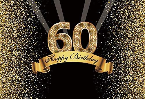 Fondo de cumpleaños Feliz 50 40 30 25 18 Fiesta de cumpleaños Póster de Lunares Dorados Fondo fotográfico Photocall Photo Studio A18 10x10ft / 3x3m