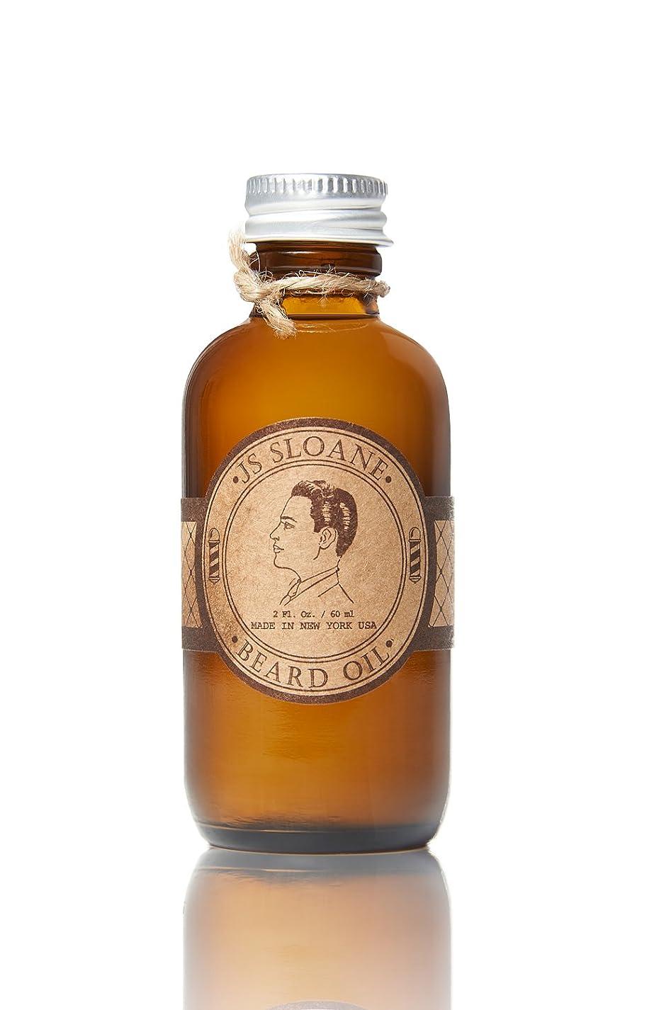 寝具複製する解説JS Sloane, ビアードオイル, Beard Oil, 60ml / 2oz