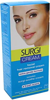 Surgi Cream Hair Remover Face Extra Gentle 1oz Fresh Scent (2 Pack) by Surgiwax